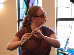 "Kathy Davis, our flutist for ""Wondrous Love"" (photo by Abigail Lynn)"