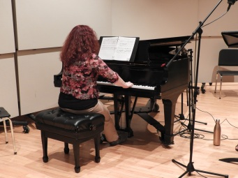 "Pamela Haynes recording ""Three Days."" (Photo by Clayton Marcum)"