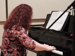 "Pamela Haynes recording ""Three Days."" I love the way this woman interprets my work. (Photo by Clayton Marcum)"