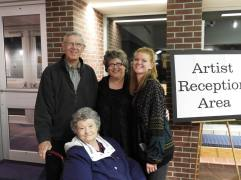 My own family after the performance: mom, dad, and my daughter Emily. Robert was probably putting his cello away.