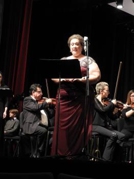 The beautiful Judy Marlett, mezzo-soprano