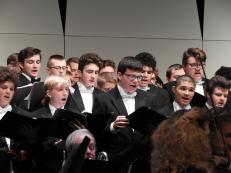 A solid men's chorus is vital during the three soldier letters. These guys did a terrific job.