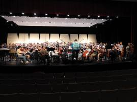 """Family Portrait"" dress rehearsal with over 250 musicians onstage"