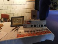 Historical museum table at pre-performance event
