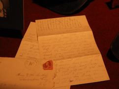"""One of Lanie's letters to her sister, which is set as one of the """"Family Portrait"""" movements"""