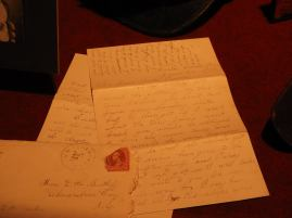 "One of Lanie's letters to her sister, which is set as one of the ""Family Portrait"" movements"