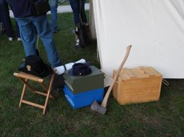 Civil War era replica artifacts for the pre-performance events on the university mall