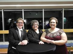 "Post performance photo with my fabulous ""Family Portrait"" soloists: Judy Marlett, mezzo-soprano and Daniel Belcher, baritone"